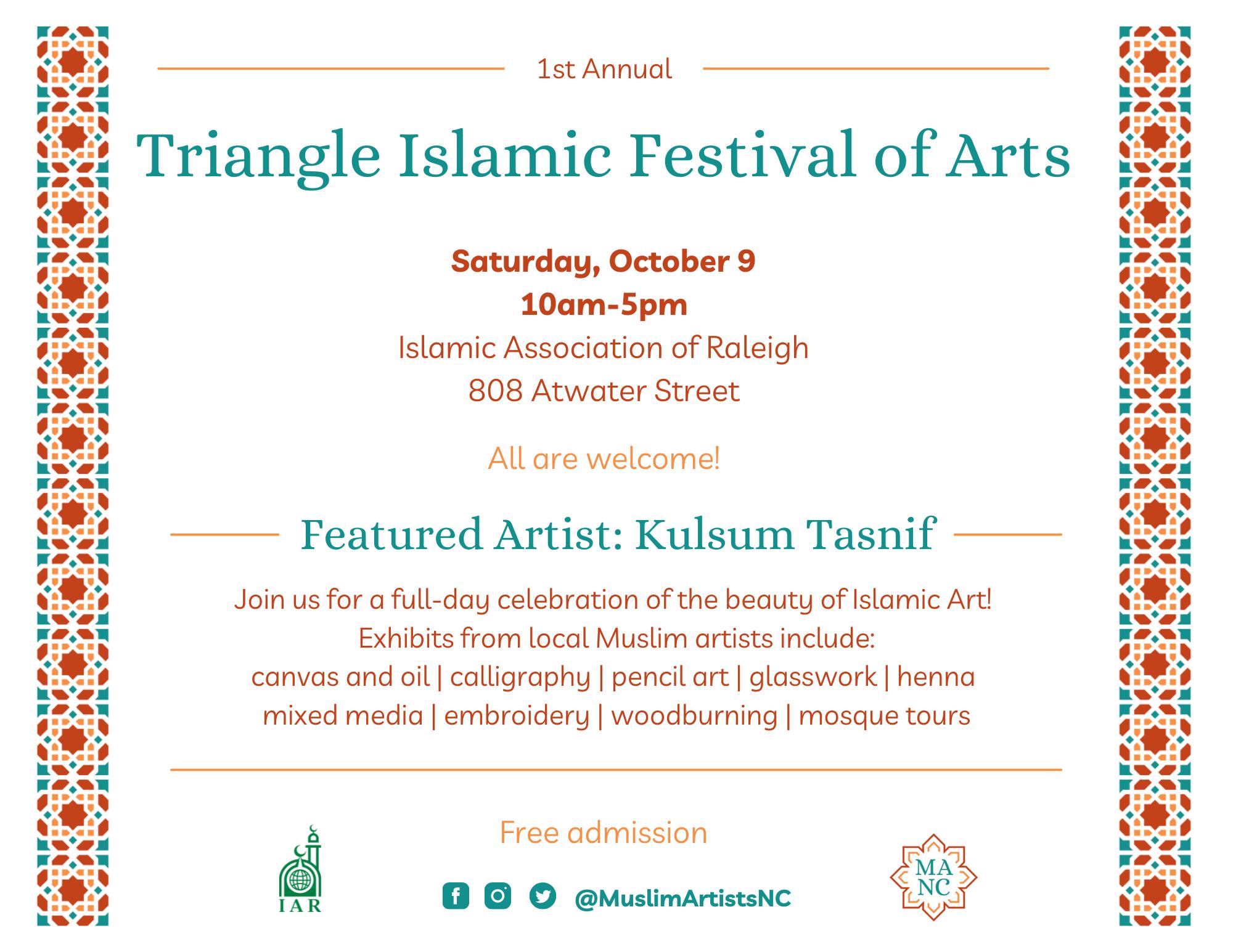 Triangle Islamic Festival of Arts